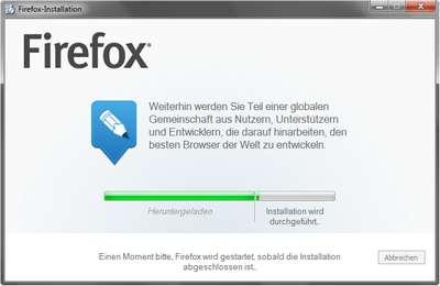 Neuer Firefox mit Installer