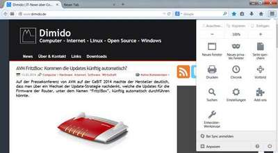 Firefox mit neuer Oberfläche und verbessertes Firefox Sync