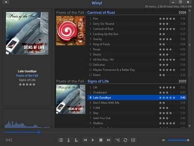 Winyl 3.0 - Schlanker und kostenloser Audio-Player