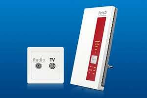 WLAN-Repeater mit eingebautem DVB-C-Tuner von AVM