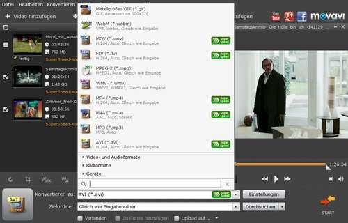 MP4-Video in AVI-Datei umwandeln, konvertieren