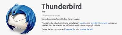 Thunderbird 45 wurde freigegeben