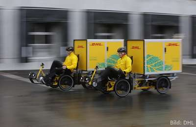 Cubicycle von DHL Express