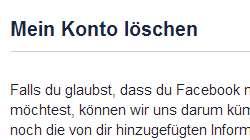 Facebook Account loeschen