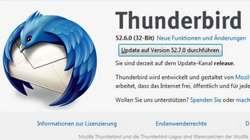 Thunderbird 52.7.0, ein Sicherheitsupdate