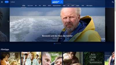 Senderauswahl - Neue ARD Mediathek