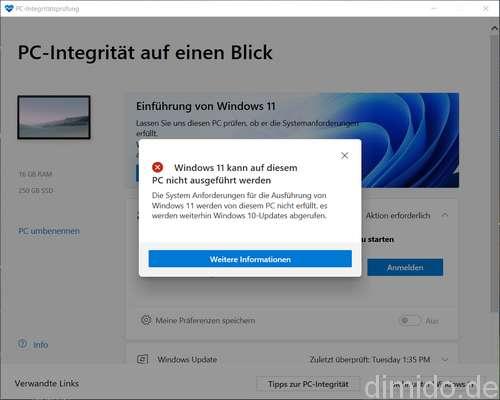 Windows 11 - Windows-PC-Integritätsprüfung